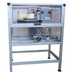 Etichettatrice automatica serie LABELX completa di unità di stampa a trasferimento termico e protezioni integrali antipolvere