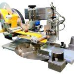 Etichettatrice semi-automatica con applicatore pneumatico per applicazione su buste